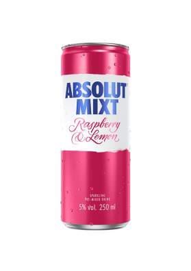Absolut Mixt Raspberry & Lemon 25cl