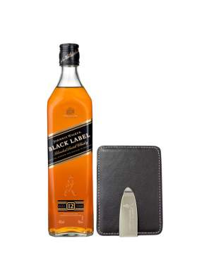 Johnnie Walker Black Label Portcard Gift Set 70cl