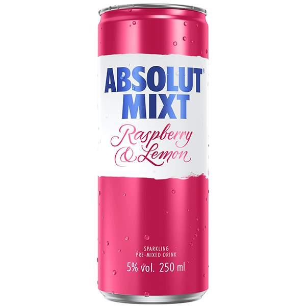 Absolut Mixt Raspberry & Lemon 25cl