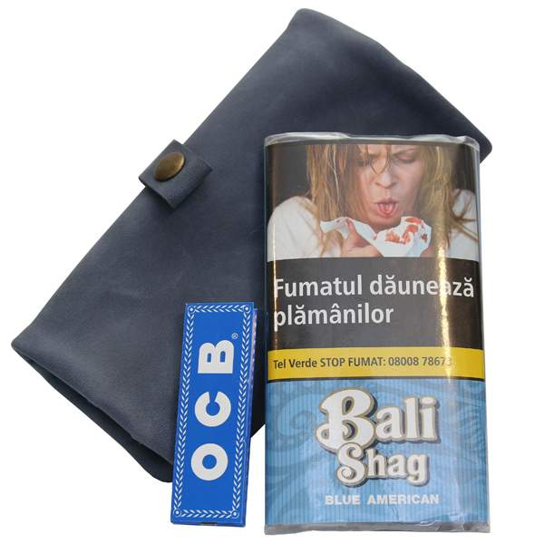 Bali Shag Blue American 40 Gr + Portofel & Foite OCB