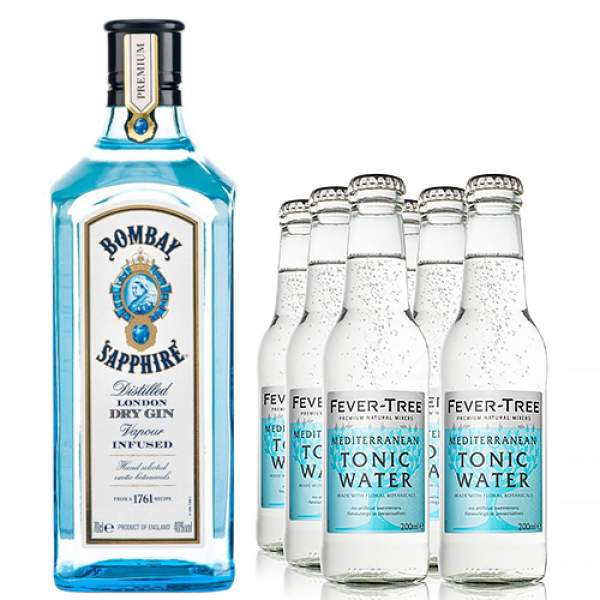 Bombay Sapphire Tonic Gift Set 70cl