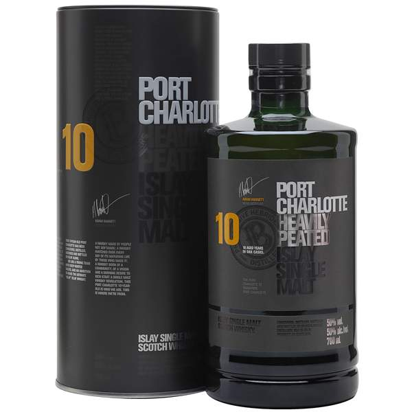Bruichladdich Port Charlotte Heavily Peated 10 ani 70cl