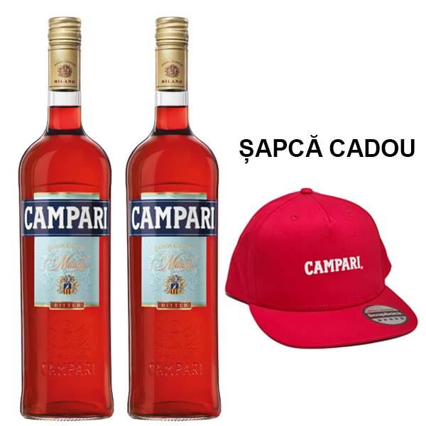 Campari 2 x 0.7L & Sapca Cadou