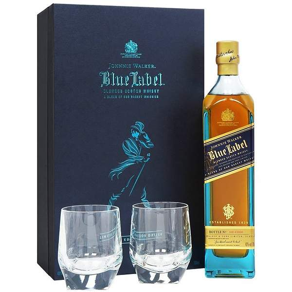 Johnnie Walker Blue Label Gift Set 70cl